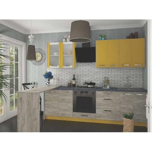 Кухня Шарлотта (желтая) Сокме