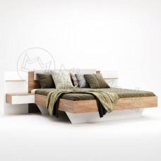 Кровать 1.6 Асти с мягким изголовьем и тумбами