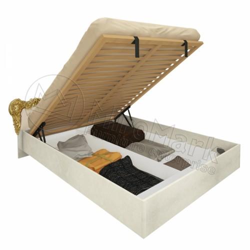 Кровать 1.6 Дженнифер подъемная с мягким изголовьем и каркасом MiroMark (Миромарк)