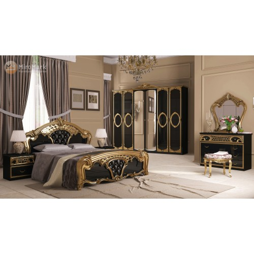 Модульная спальня Реджина (Regina) Черный глянец MiroMark (Миромарк)