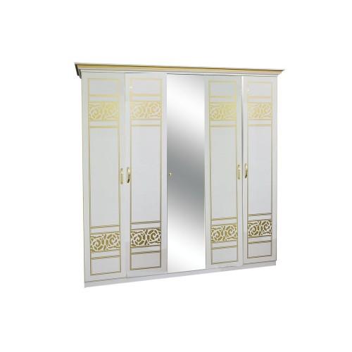 Шкаф 5ДЗ Полина Новая (1 зеркало) Світ меблів