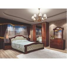 Модульная спальня Венеция новая пино орех