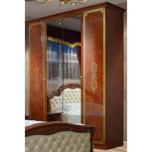 Шкаф 4Д Венеция новая пино орех Світ меблів
